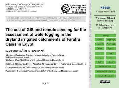 The Use of Gis and Remote Sensing for th... by El Bastawesy, M.