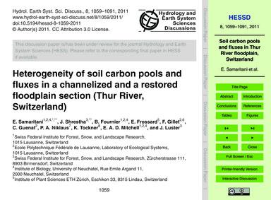 Heterogeneity of Soil Carbon Pools and F... by Samaritani, E.