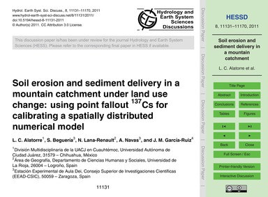 Soil Erosion and Sediment Delivery in a ... by Alatorre, L. C.
