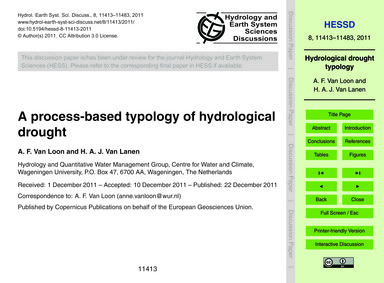 A Process-based Typology of Hydrological... by Van Loon, A. F.