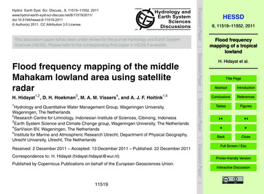 Flood Frequency Mapping of the Middle Ma... by Hidayat, H.