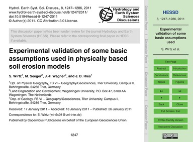 Experimental Validation of Some Basic As... by Wirtz, S.