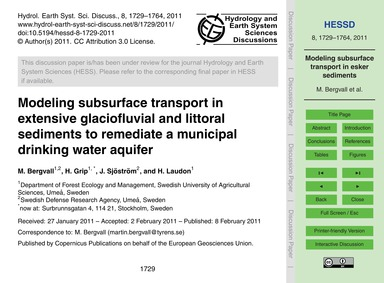Modeling Subsurface Transport in Extensi... by Bergvall, M.
