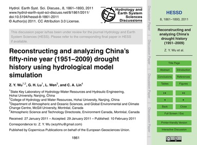 Reconstructing and Analyzing China's Fif... by Wu, Z. Y.