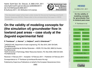 On the Validity of Modeling Concepts for... by Trambauer, P.