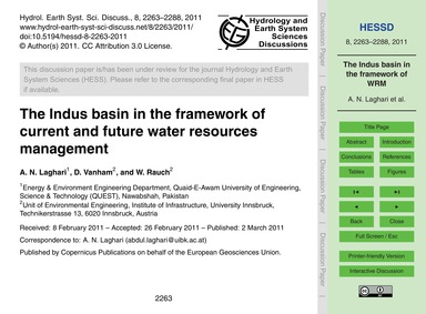 The Indus Basin in the Framework of Curr... by Laghari, A. N.