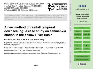 A New Method of Rainfall Temporal Downsc... by Chen, G. F.