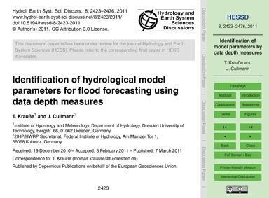 Identification of Hydrological Model Par... by Krauße, T.