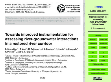 Towards Improved Instrumentation for Ass... by Schneider, P.