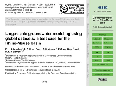 Large-scale Groundwater Modeling Using G... by Sutanudjaja, E. H.
