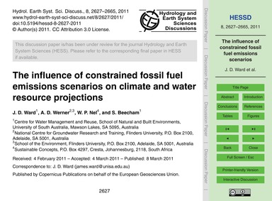 The Influence of Constrained Fossil Fuel... by Ward, J. D.