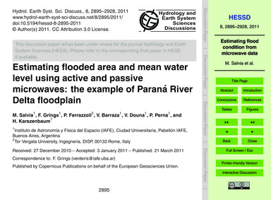 Estimating Flooded Area and Mean Water L... by Salvia, M.