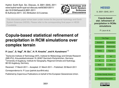 Copula-based Statistical Refinement of P... by Laux, P.