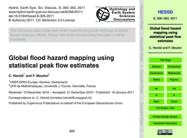 Global Flood Hazard Mapping Using Statis... by Herold, C.