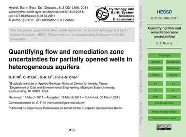 Quantifying Flow and Remediation Zone Un... by Ni, C.-f.