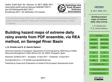 Building Hazard Maps of Extreme Daily Ra... by Giraldo, J. D.