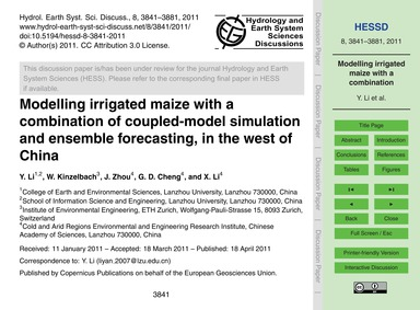 Modelling Irrigated Maize with a Combina... by Li, Y.