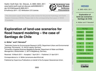 Exploration of Land-use Scenarios for Fl... by Müller, A.