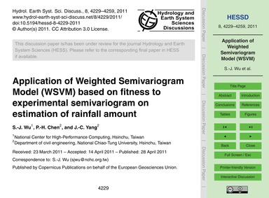 Application of Weighted Semivariogram Mo... by Wu, S.-j.