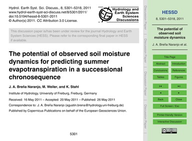 The Potential of Observed Soil Moisture ... by Breña Naranjo, J. A.