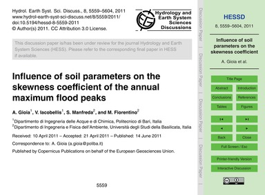 Influence of Soil Parameters on the Skew... by Gioia, A.