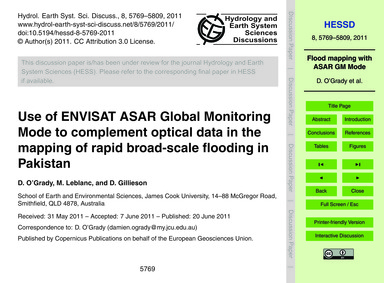 Use of Envisat Asar Global Monitoring Mo... by O'Grady, D.