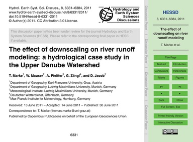 The Effect of Downscaling on River Runof... by Marke, T.
