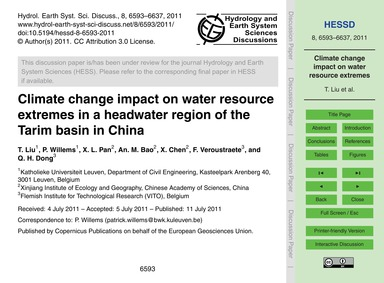 Climate Change Impact on Water Resource ... by Liu, T.