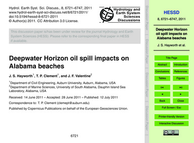 Deepwater Horizon Oil Spill Impacts on A... by Hayworth, J. S.