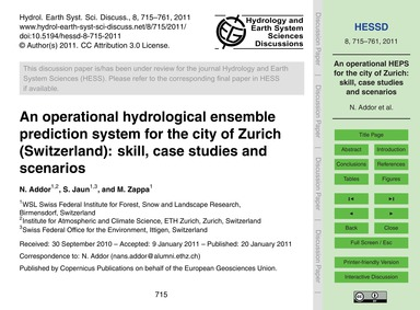 An Operational Hydrological Ensemble Pre... by Addor, N.