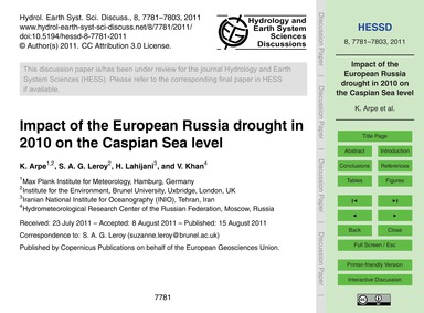 Impact of the European Russia Drought in... by Arpe, K.