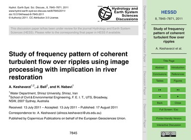 Study of Frequency Pattern of Coherent T... by Keshavarzi, A.
