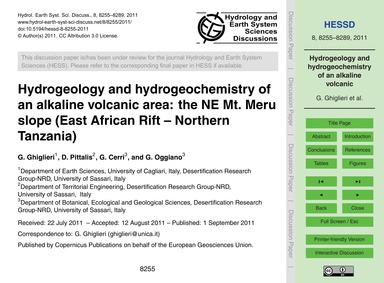 Hydrogeology and Hydrogeochemistry of an... by Ghiglieri, G.