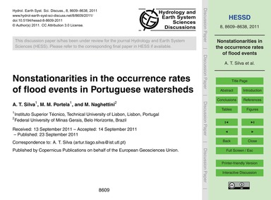 Nonstationarities in the Occurrence Rate... by Silva, A. T.
