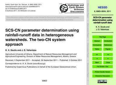 Scs-cn Parameter Determination Using Rai... by Soulis, K. X.