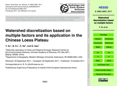 Watershed Discretization Based on Multip... by Xu, Y.