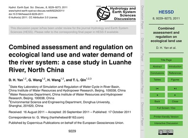 Combined Assessment and Regulation on Ec... by Yan, D. H.