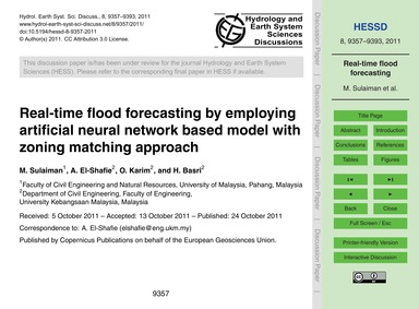 Real-time Flood Forecasting by Employing... by Sulaiman, M.