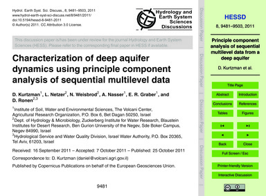 Characterization of Deep Aquifer Dynamic... by Kurtzman, D.