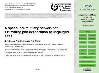 A Spatial Neural Fuzzy Network for Estim... by Chung, C.-h.