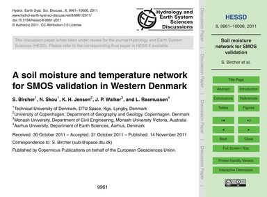 A Soil Moisture and Temperature Network ... by Bircher, S.