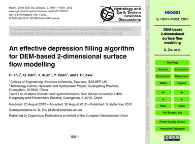 An Effective Depression Filling Algorith... by Zhu, D.