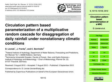 Circulation Pattern Based Parameterizati... by Lisniak, D.