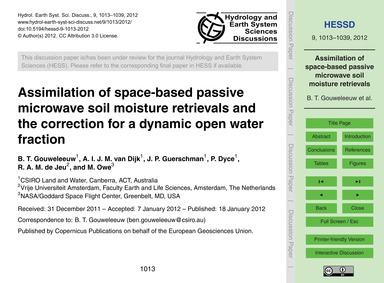 Assimilation of Space-based Passive Micr... by Gouweleeuw, B. T.