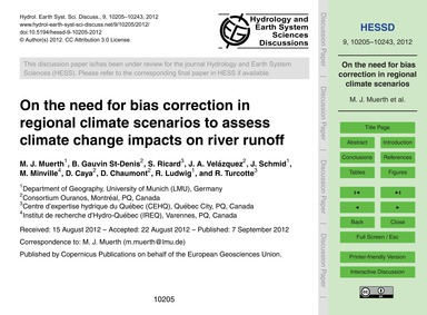 On the Need for Bias Correction in Regio... by Muerth, M. J.
