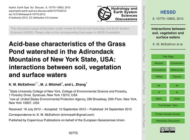 Acid-base Characteristics of the Grass P... by McEathron, K. M.