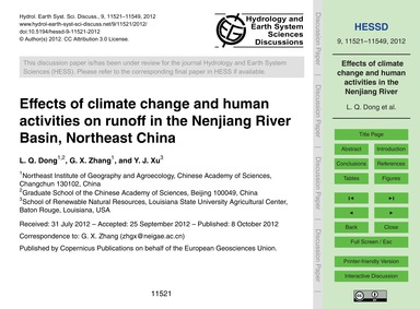 Effects of Climate Change and Human Acti... by Dong, L. Q.