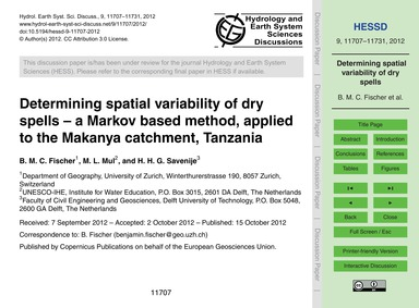 Determining Spatial Variability of Dry S... by Fischer, B. M. C.