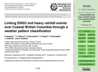 Linking Enso and Heavy Rainfall Events O... by Brigode, P.