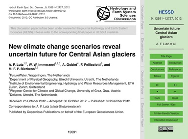 New Climate Change Scenarios Reveal Unce... by Lutz, A. F.